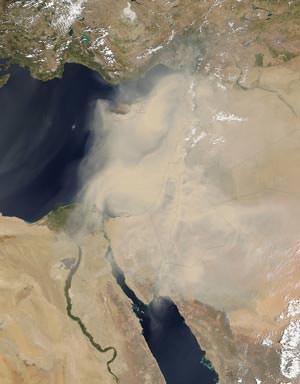 Khamsin sandstorm